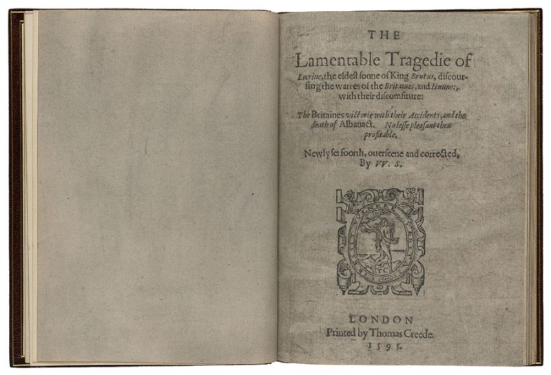 Locrine title page