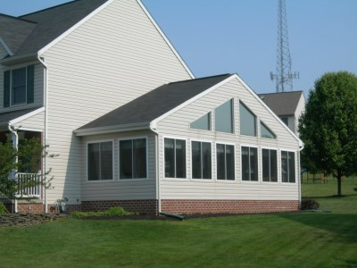 sunroom addition to a house