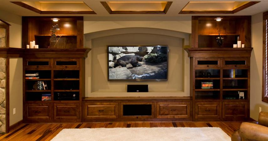 Basement Remodel - Home Theater TV