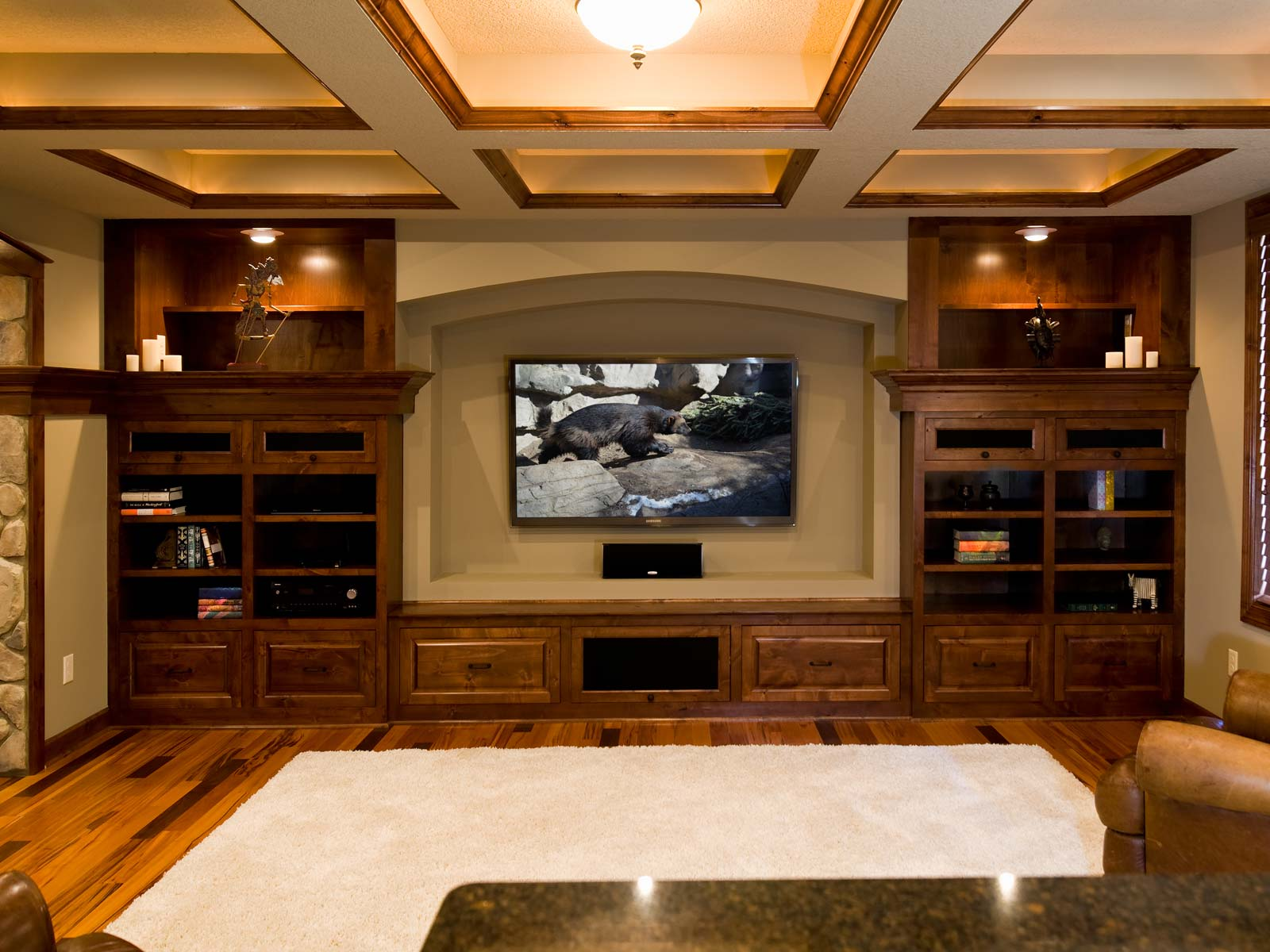 Superieur ... Basement Remodel   Home Theater TV ...