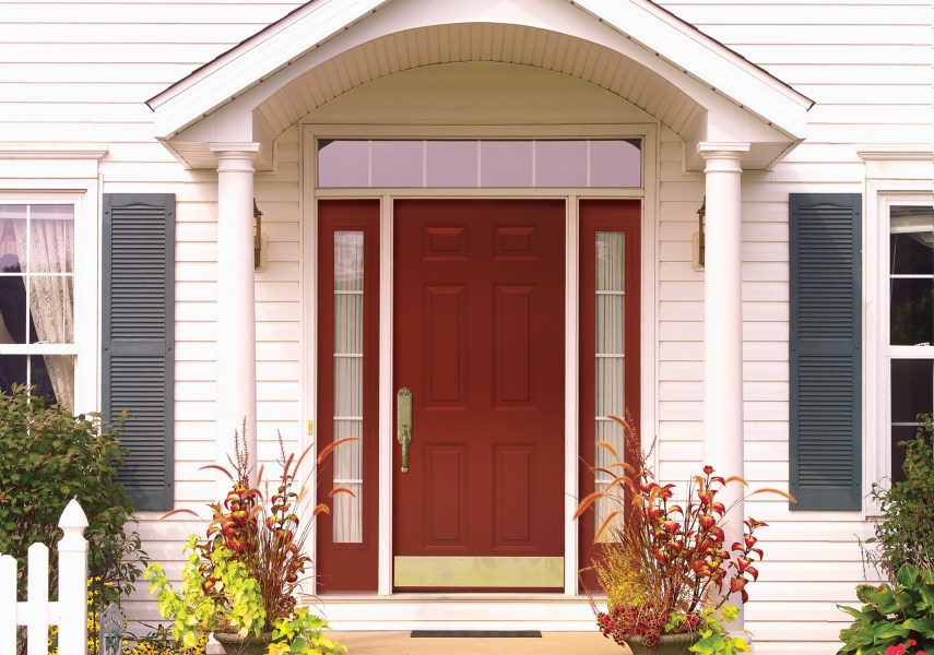 PROVIA 006 160 612CLR Mountain Berry Legacy Steel Entry Door