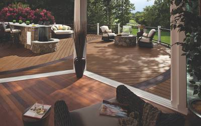 Custom Multi-Level Decking Trex