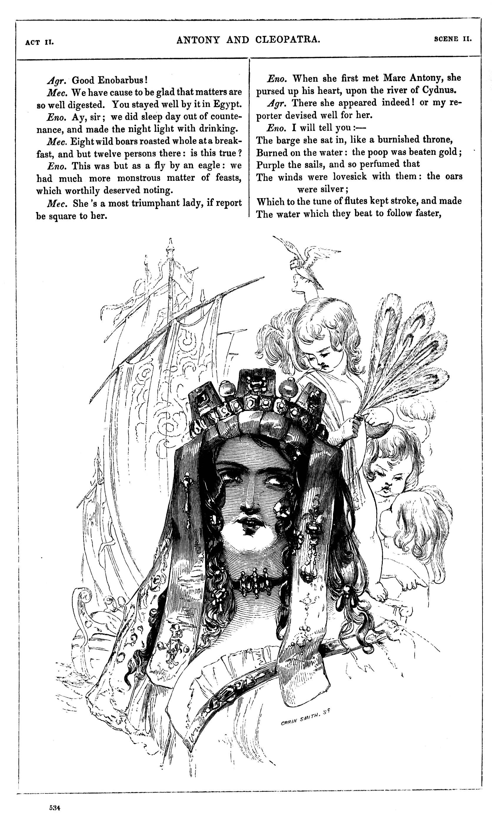 Kenny Meadows, Antony and Cleopatra, Illustration #9