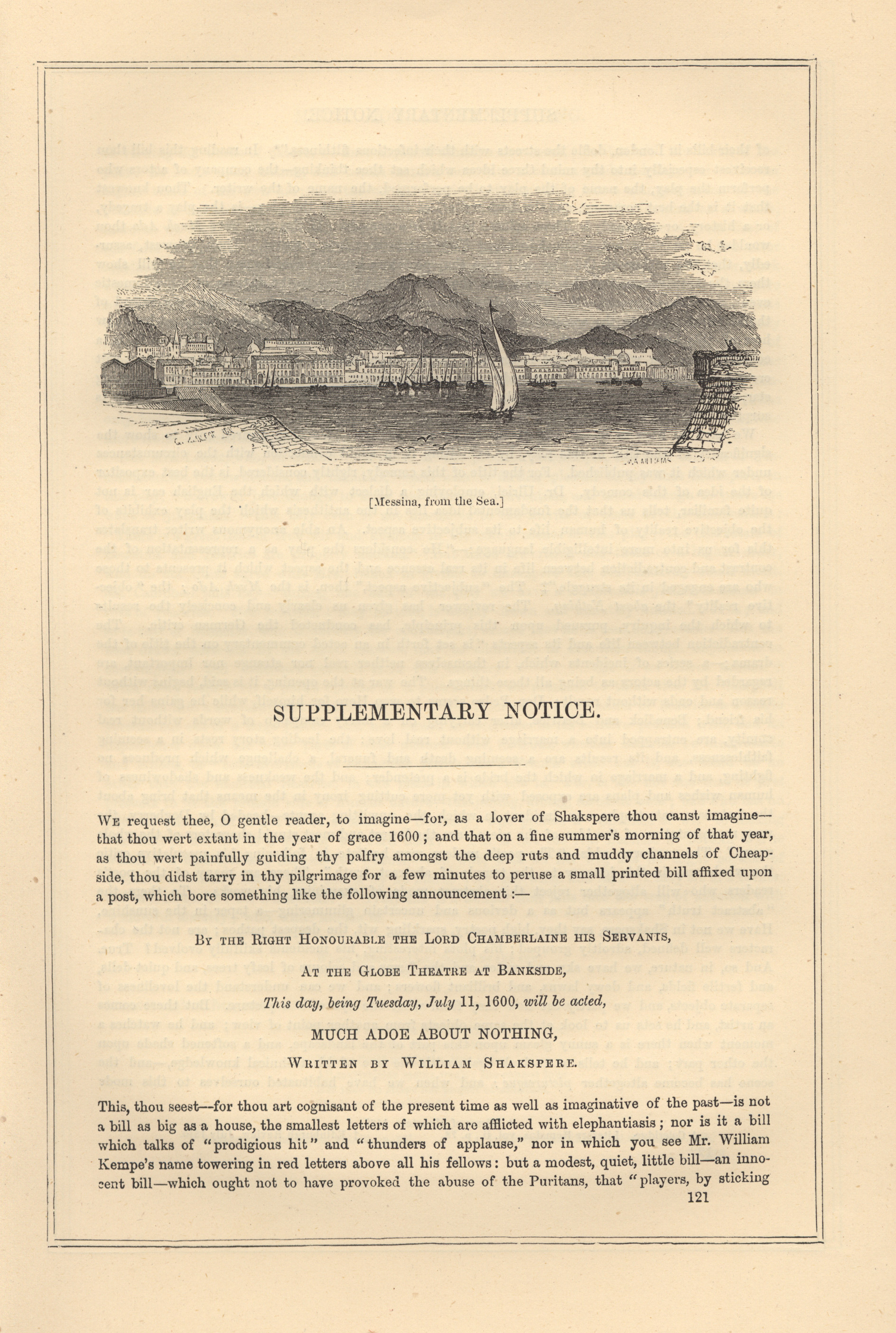 Messina, from the Sea | Victorian Illustrated Shakespeare ...