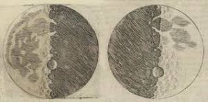 Moon drawings from Galileo