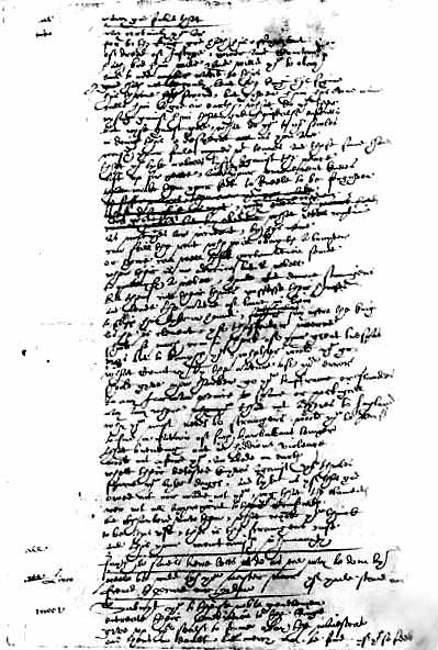 A page from the Foul Papers of the play