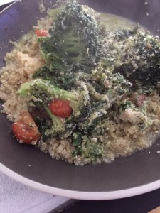 Pesto Chicken with Quinoa