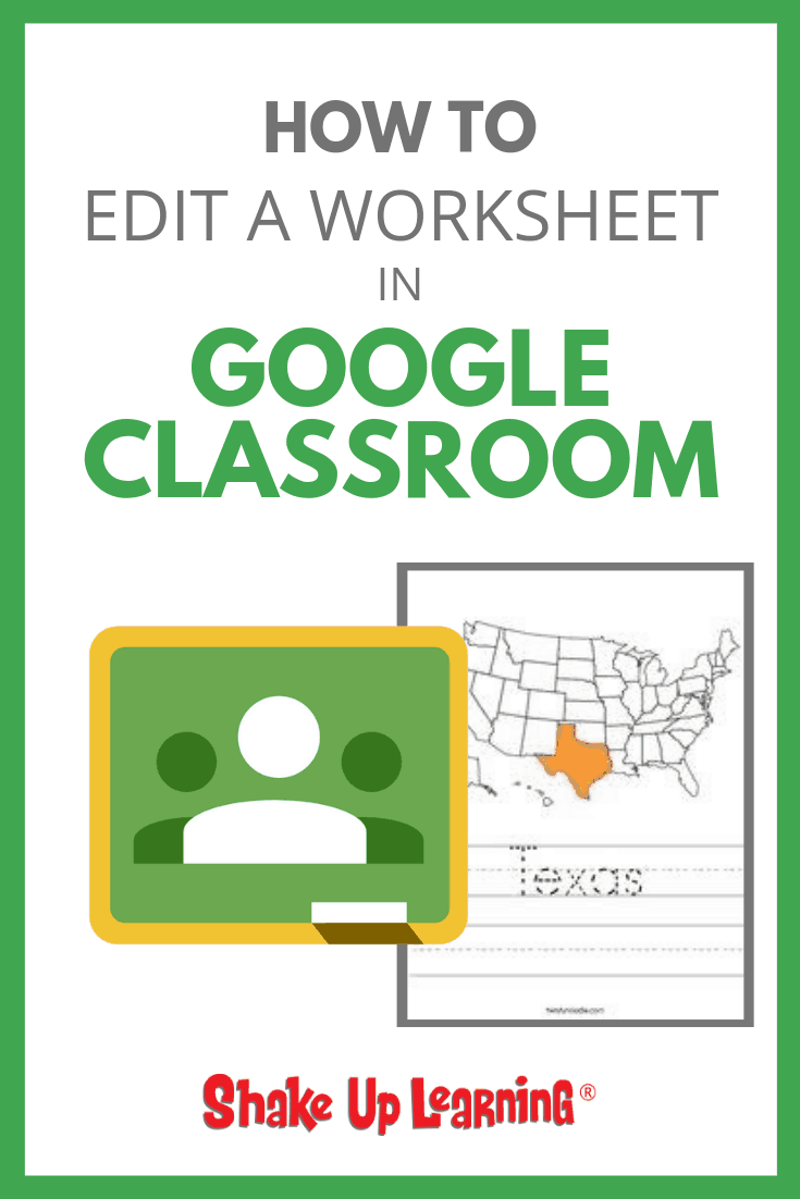 hight resolution of Stop Asking How to Put a Worksheet in Google Classroom - SULS018   Shake Up  Learning