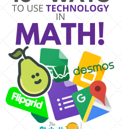 10+ Ways to Use Technology in the Math Classroom - SULS037   Shake Up  Learning [ 1102 x 735 Pixel ]