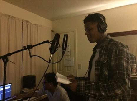 Jakoby recording with local producer
