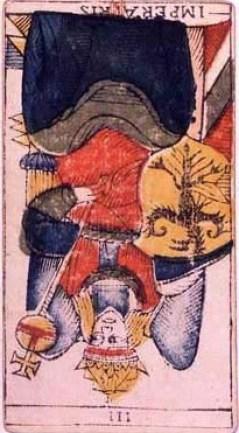 イメージ画像:タロットカード 大アルカナ 女帝 (The Empress)逆位置