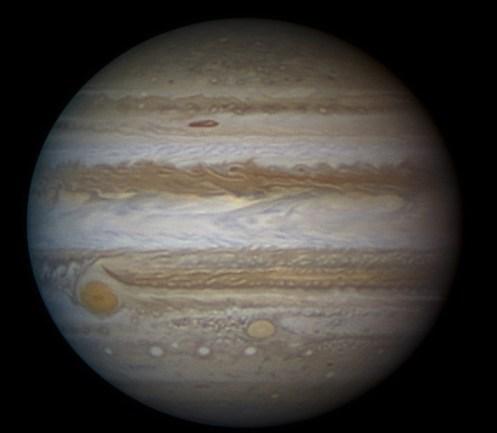 イメージ画像:木星  先週末、最大そして最も明るくなった「木星」は幸運を運んでくる星。進むべき道を明るく照らしてくれる☆彡