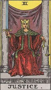 Tarot Major arcana 11 Justice