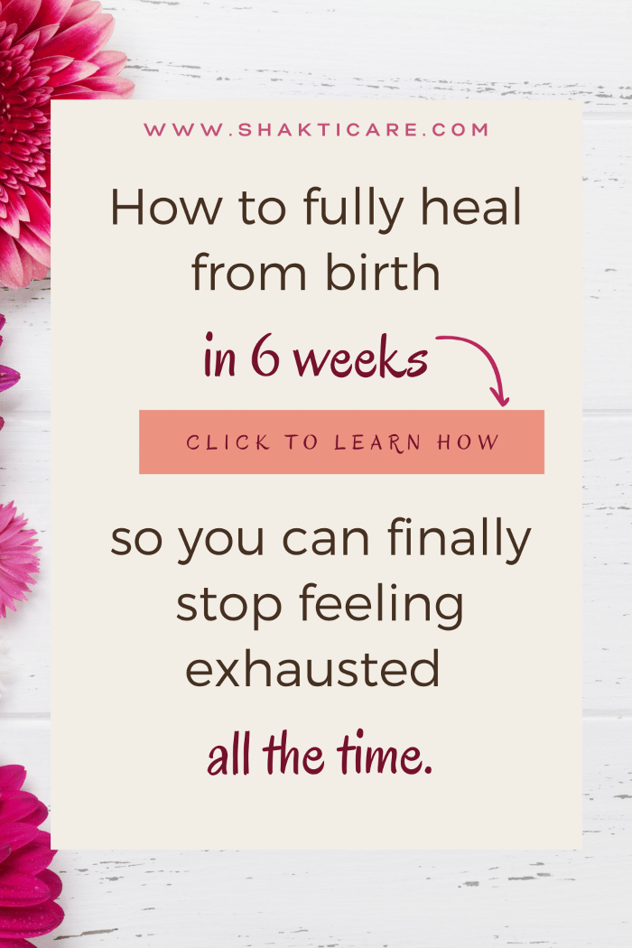 how to heal from birth
