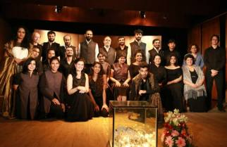 With the cast of Dido & Aeneas | Photo Courtesy : Poona Music Society