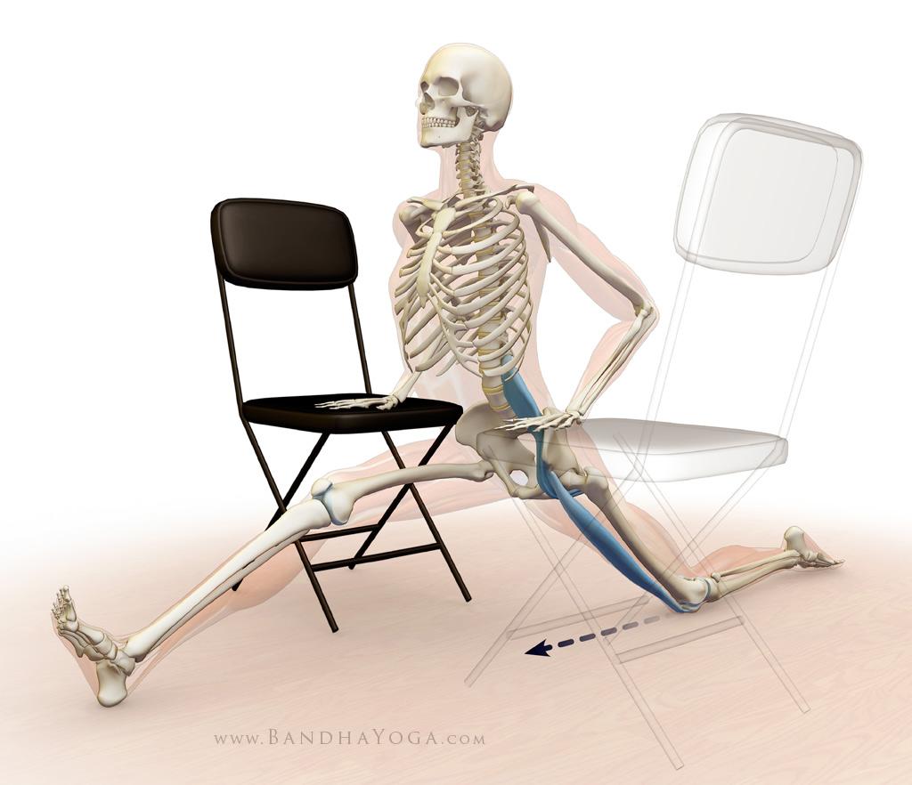 back leg psoas and rectus femoris - hanumanasana stretch