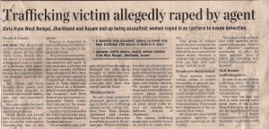 Trafficking victim allegedly raped by agent