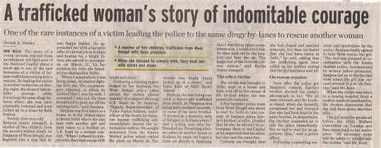 A TRAFFICKED WOMEN STORY OF INDOMITABLE COURAGE