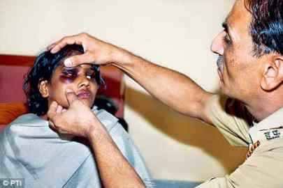 A 13-year-old maid Lakhi, another victim of assault, who was rescued from a house in Gurgaon in 2008