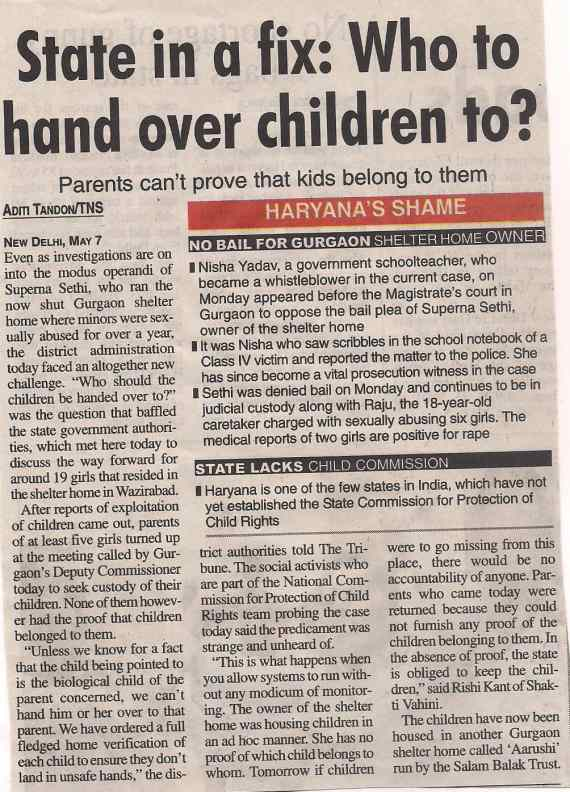 State in a fix: Who to hand over children to?
