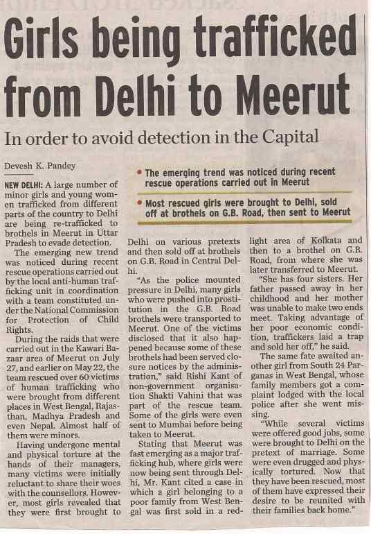 Girls being trafficked from Delhi to Meerut