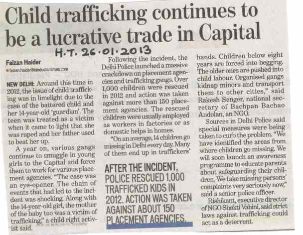 Child trafficking continues to be a lucrative trade in Capital