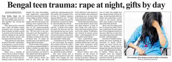 Bengal teen trauma: rape at night, gifts by day