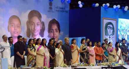 West Bengal Chief Minister at a Programme on Kanyashree in Kolkatta