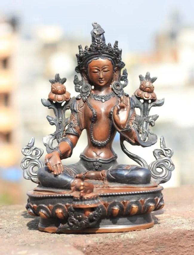 Green Tara Buddha Statue
