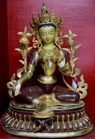 Zen Garden Statues - Green Tara Golden