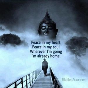 Peace in my heart Peace in my soul Wherever I'm going I'm already home - Buddha
