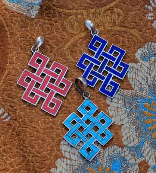 Silver Pendants Love Knot bundle of 3