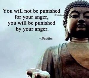 Buddha Quotes - You will not be punished for your anger. You will be punished by your anger. - Buddha