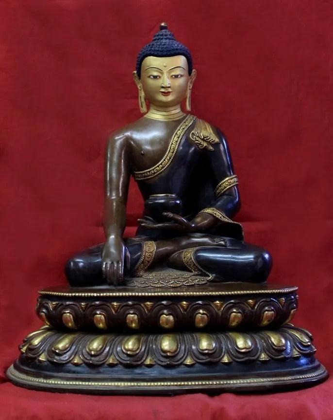 Mini Zen Garden Statues Shakyamuni Buddha 12 Inches Tall