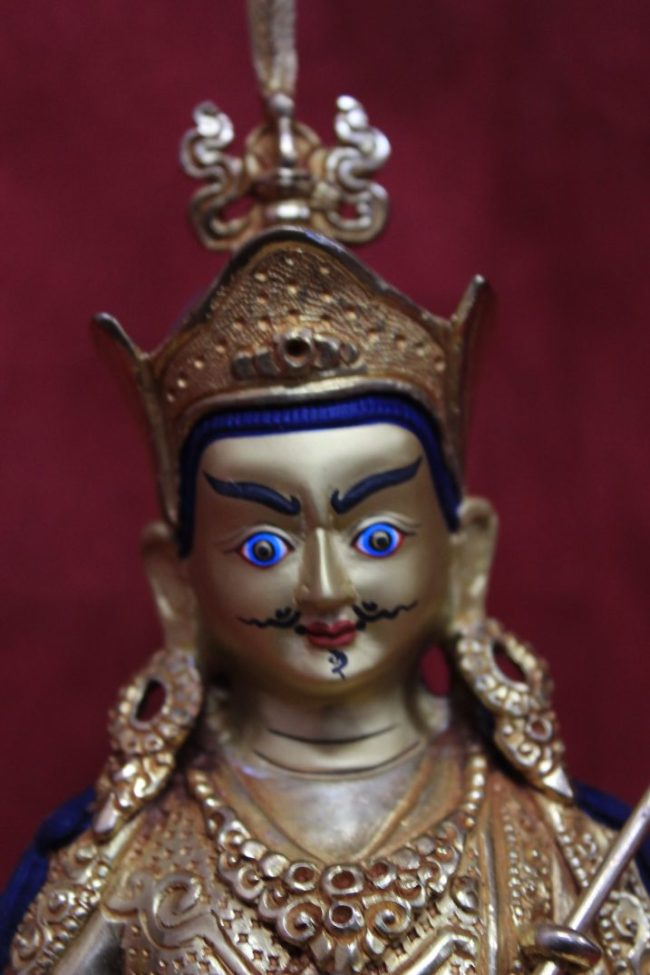 Guru Rinpoche Statue Full Gold Face