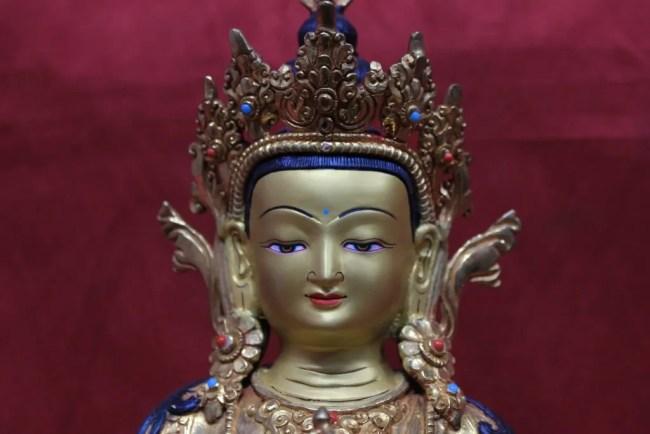 Vajrasattva statue full gold face