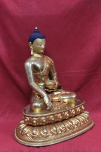 Shakyamuni Copper full gold -One of the Types of Buddha Statues