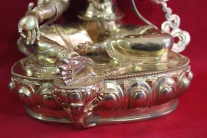 Green Tara Statue RSN012 c lotus base