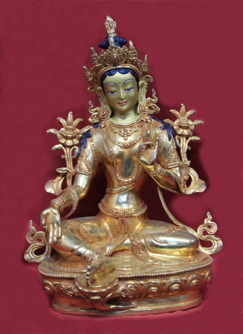 Consort of Amoghsiddhi is Green Tara