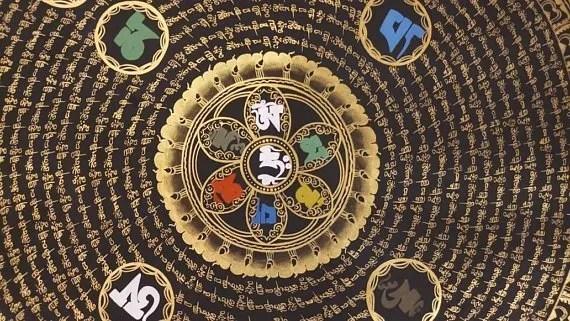 Tibetan Om Mantra Buddhist Paintings
