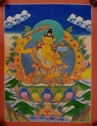 Manjushri Tibetan thangka