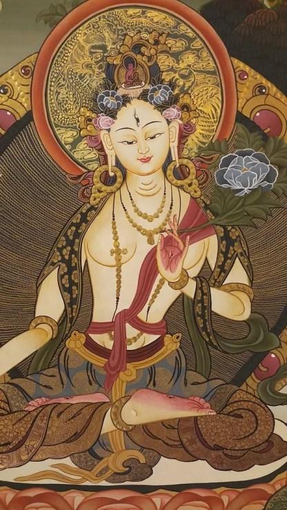 White Goddess Thangka painting