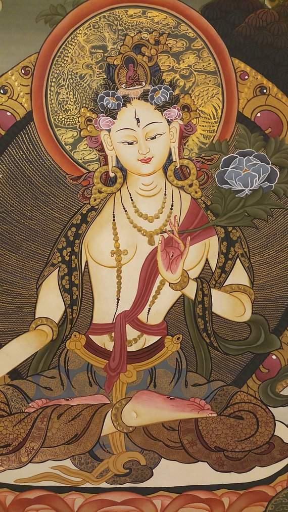 White Goddess Thangka painting