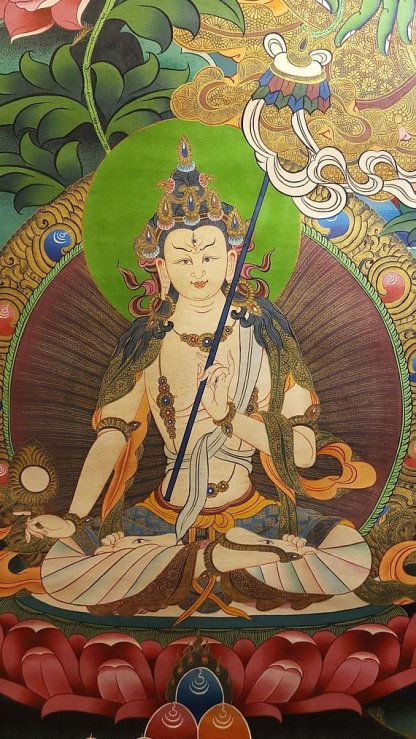 green tara thangka side deities 2