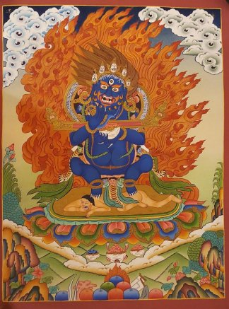 mahankala thangka painting