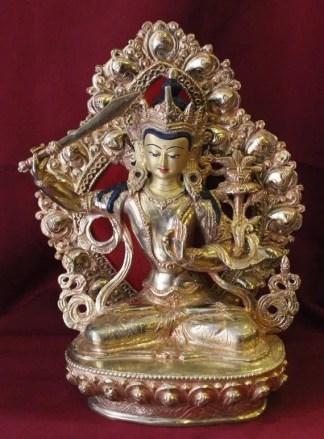 manjushri statue gold