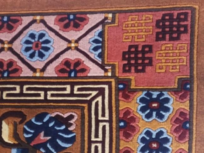 Tibetan rug mandala detail 3