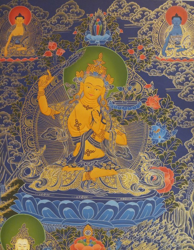 manjushri thangka body