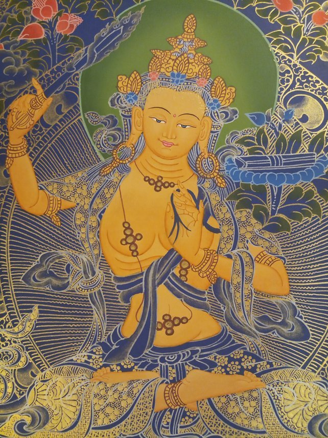 manjushri thangka face
