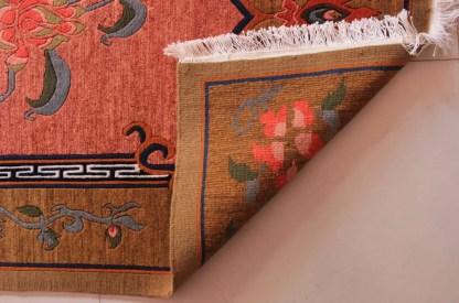 Tibetan Flower Rug back view